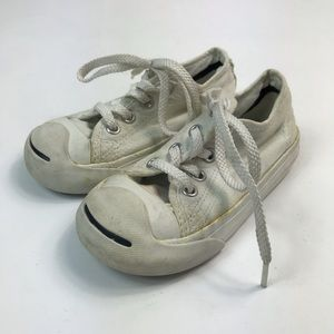Converse Jack Parcell Baby white Sneakers Sz 7